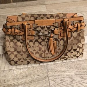 Brown coach bag